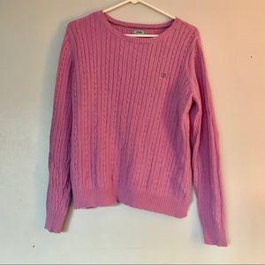 IZOD purple crewneck knit sweater